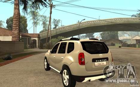 Dacia Duster 2010 SUV 4x4 für GTA San Andreas zurück linke Ansicht