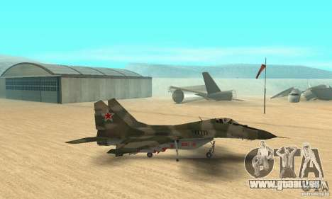 MIG-29 pour GTA San Andreas sur la vue arrière gauche