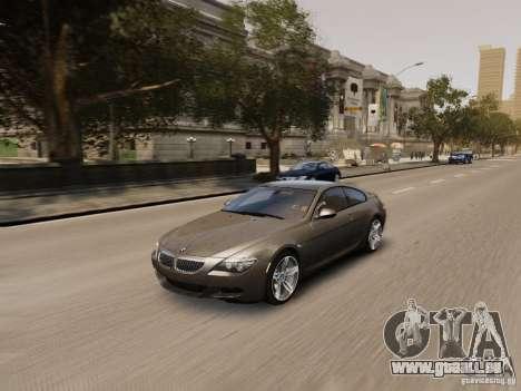 BMW M6 2010 für GTA 4 Unteransicht