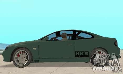 Vauxhall Monaro VXR Open SKY 2004 für GTA San Andreas zurück linke Ansicht