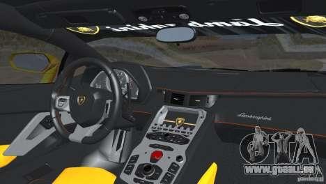Lamborghini Aventador LP700-4 2012 für GTA San Andreas Rückansicht