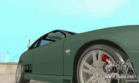 Vauxhall Monaro VXR Open SKY 2004 pour GTA San Andreas vue de dessus