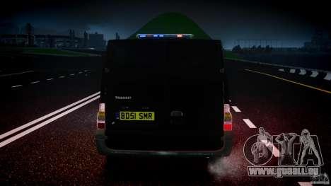 Ford Transit SWAT [ELS] für GTA 4 Unteransicht