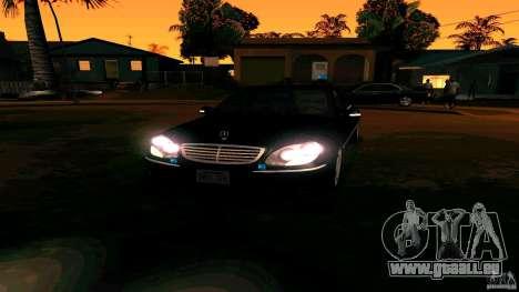 Mercedes S500 pour GTA San Andreas vue arrière
