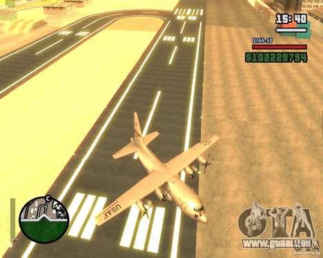C-130 hercules pour GTA San Andreas vue de côté