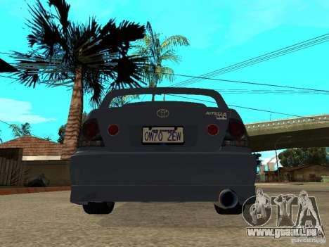 Toyota Altezza für GTA San Andreas zurück linke Ansicht