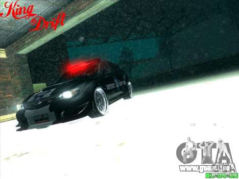 Subaru Impreza WRX Police für GTA San Andreas Unteransicht