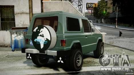 Mitsubishi Pajero I [Final] pour GTA 4 Vue arrière de la gauche