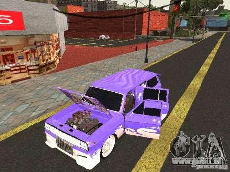 Lowrider GAZ 24-12 pour GTA San Andreas sur la vue arrière gauche