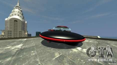 UFO neon ufo red für GTA 4 hinten links Ansicht