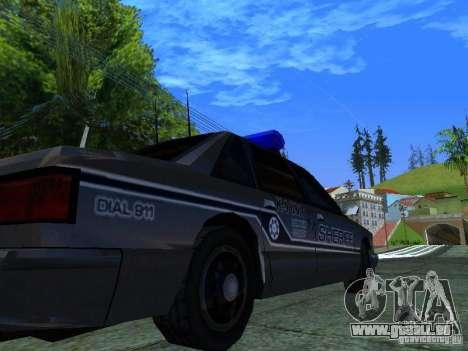 Lumpkin Country Sheriffs Office pour GTA San Andreas vue arrière