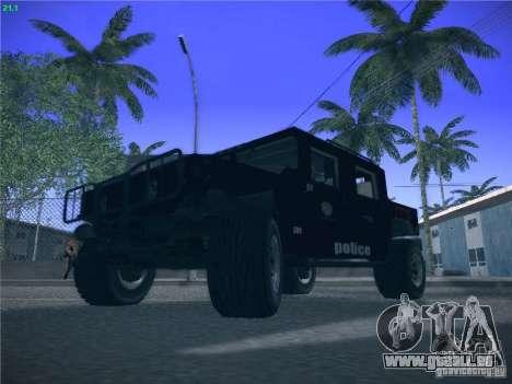 Hummer H1 1986 Police für GTA San Andreas Rückansicht