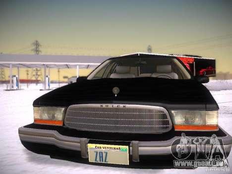 Buick Roadmaster 1996 pour GTA San Andreas vue intérieure