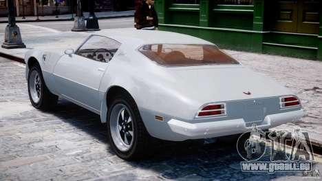 Pontiac Firebird Esprit 1971 pour GTA 4 est un droit