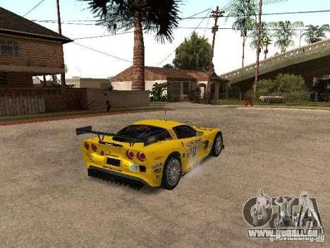 Chevrolet Corvette C6-R pour GTA San Andreas sur la vue arrière gauche