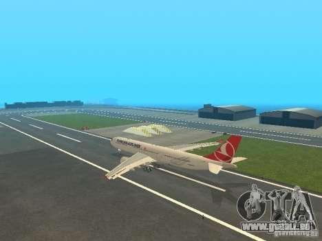 Airbus A330-300 Turkish Airlines für GTA San Andreas zurück linke Ansicht