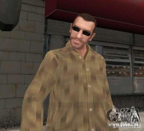 Nouvelles lunettes pour Niko-noir pour GTA 4