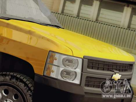 Chevrolet Silverado 2500HD 2013 pour GTA San Andreas vue intérieure