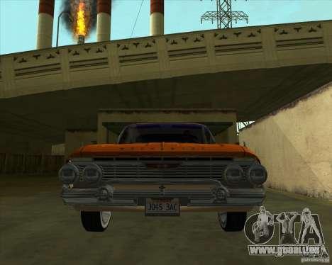 Chevrolet Impala SS 1961 pour GTA San Andreas sur la vue arrière gauche