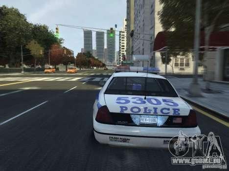 Ford Crown Victoria NYPD 2012 pour GTA 4 est un côté