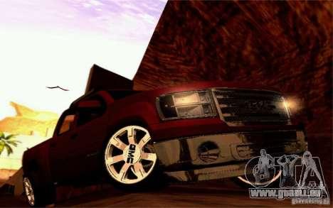 GMC Sierra 2011 pour GTA San Andreas vue intérieure