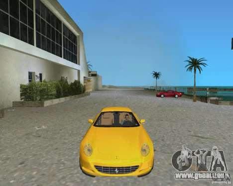 Ferrari 612 Scaglietti pour GTA Vice City sur la vue arrière gauche