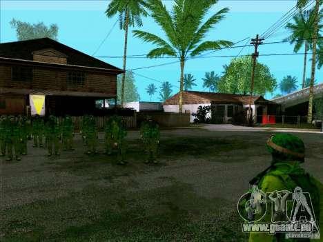 Camouflage forêt Morpeh pour GTA San Andreas troisième écran