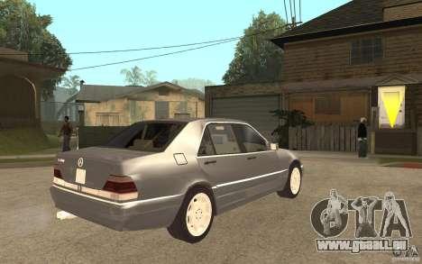 Mercedes-Benz S600 W140 pour GTA San Andreas vue de droite