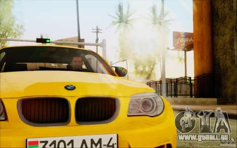 BMW 1M Coupe für GTA San Andreas Rückansicht