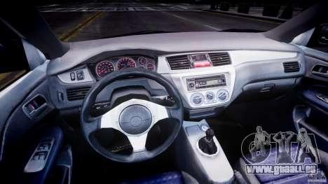 Mitsubishi Lancer Evolution VIII pour GTA 4 Vue arrière de la gauche