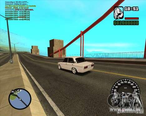 VAZ 2106 tuning pour GTA San Andreas laissé vue