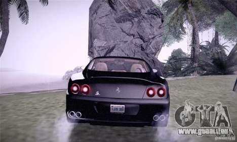 Ferrari 575M Maranello pour GTA San Andreas sur la vue arrière gauche