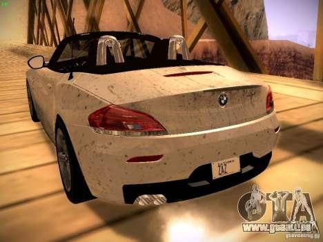 BMW Z4 sDrive28i 2012 pour GTA San Andreas vue arrière