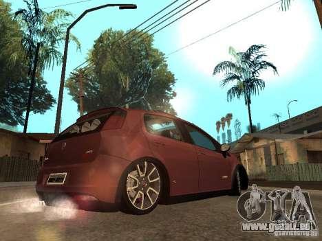 Fiat Punto T-Jet Edit pour GTA San Andreas laissé vue