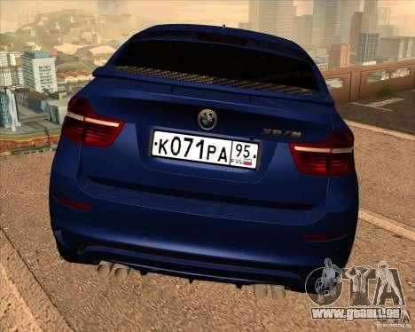 BMW X6 M E71 pour GTA San Andreas vue de côté