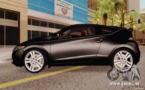 Honda CR-Z 2010 V3.0 pour GTA San Andreas laissé vue