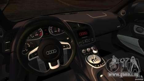 Audi R8 5.2 Stock 2012 Final pour GTA 4 Vue arrière