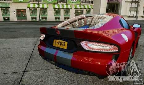 Dodge Viper GTS 2013 für GTA 4 rechte Ansicht