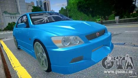 Toyota Altezza pour GTA 4 Vue arrière de la gauche