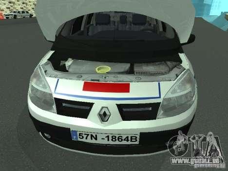 Renault Scenic II Police pour GTA San Andreas vue intérieure