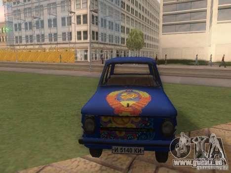 Hippie ZAZ für GTA San Andreas Rückansicht