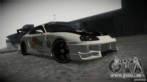 Toyota Supra MyGame Drift Team pour GTA San Andreas vue arrière