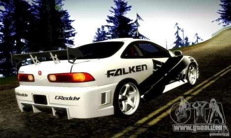 Acura Integra Type R pour GTA San Andreas laissé vue