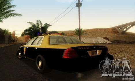 Ford Crown Victoria Maryland Police pour GTA San Andreas laissé vue