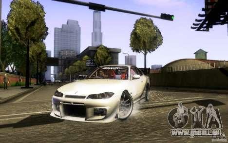 Nissan Silvia S15 Drift Style für GTA San Andreas Rückansicht