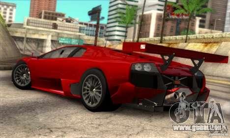 Lamborghini Murcielago R-SV GT1 für GTA San Andreas linke Ansicht