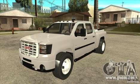 GMC 3500 HD Sierra Duramax Diesel 2010 pour GTA San Andreas