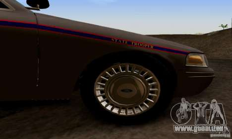 Ford Crown Victoria Mississippi Police pour GTA San Andreas vue de droite
