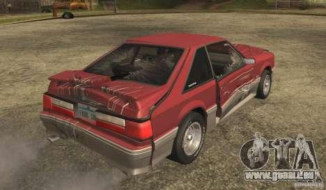 Ford Mustang GT 5.0 1993 pour GTA San Andreas vue de côté