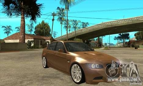 BMW E90 M3 pour GTA San Andreas vue arrière